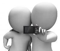 Couples selfie sm stuart miles